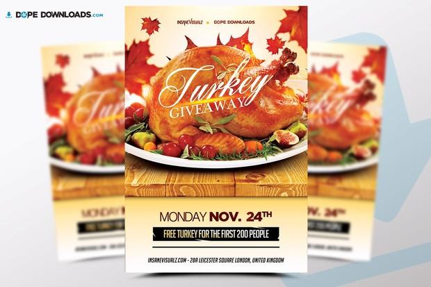 turkey giveaway free flyer dope downloads
