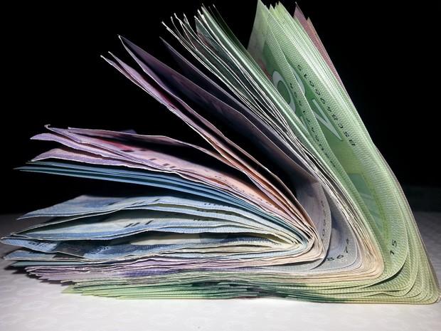 Stack Of Cash Bills Money