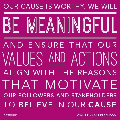 The Cause Manifesto Principles from Aespire (License)