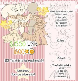 Feminine Character Base Pack