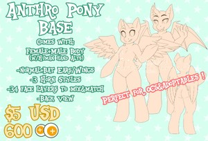 Anthro Pony Base