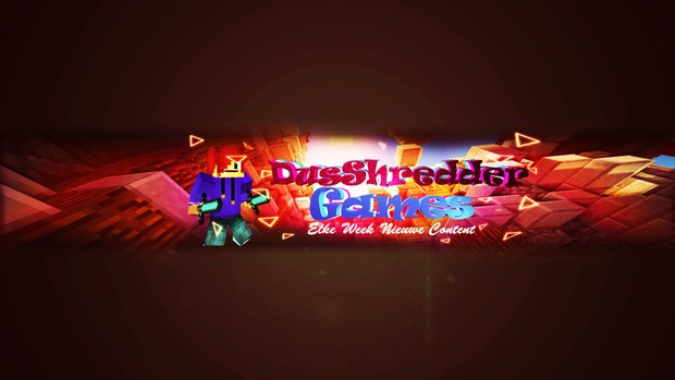 3D Minecraft Youtube Banner Template - DSGDesigns