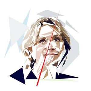 Portrait de Valérie Pecresse - 300 dpi - format 30 cm x 30 cm