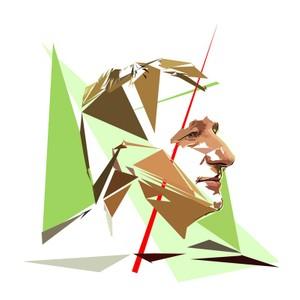 Portrait de Yannick Jadot - 300 dpi - format 30 cm x 30 cm