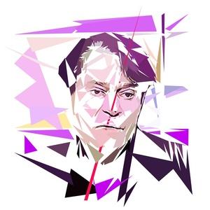 Portrait de Claude Hagège - 300 dpi - format 30 cm x 30 cm