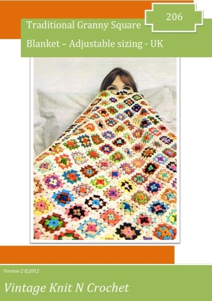 VKNC206  Traditional Granny Blanket brought up to date