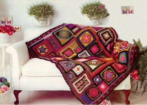 VKNC204 - Granny Throw Blanket with a difference