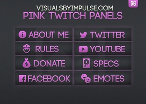 Pink Twitch Panels