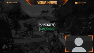 Orange Twitch Overlay