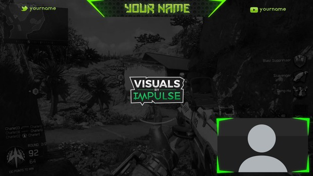 Green Twitch Overlay