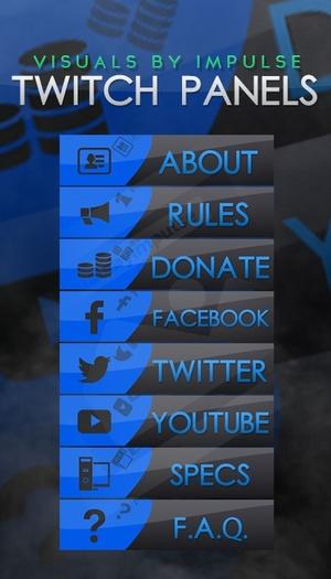Blue Tumbler Twitch Panels