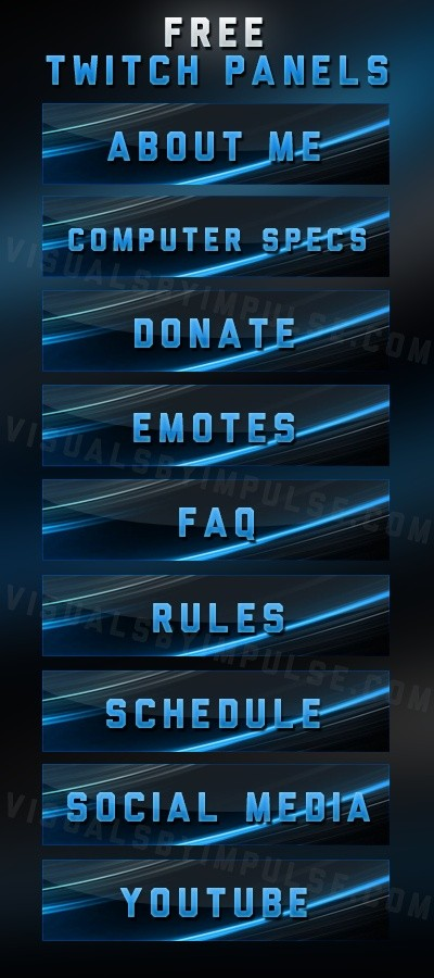 Blue Abstract Twitch Panels