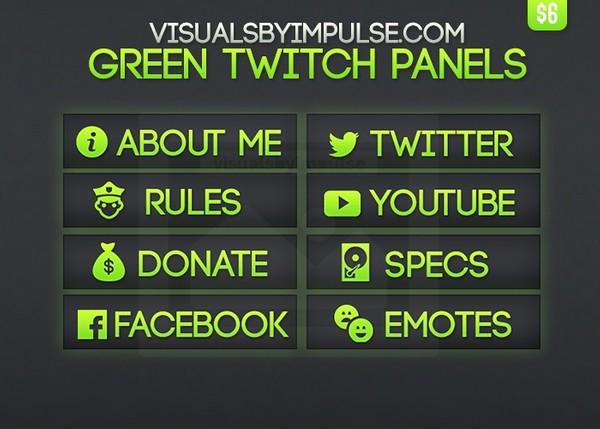 Green Twitch Panels