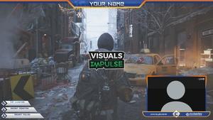 Blue & Orange Overlay + Alert Panels