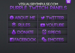 Purple Twitch Panels