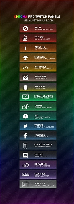Chroma Pro Twitch Panels