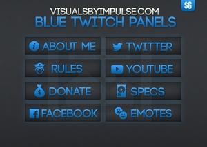 Blue Twitch Panels