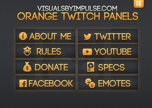 Orange Twitch Panels