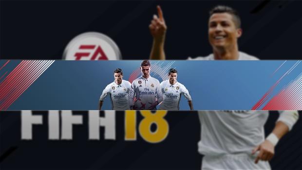 Fifa 18 Youtube Banner Template Photoshop Creationix