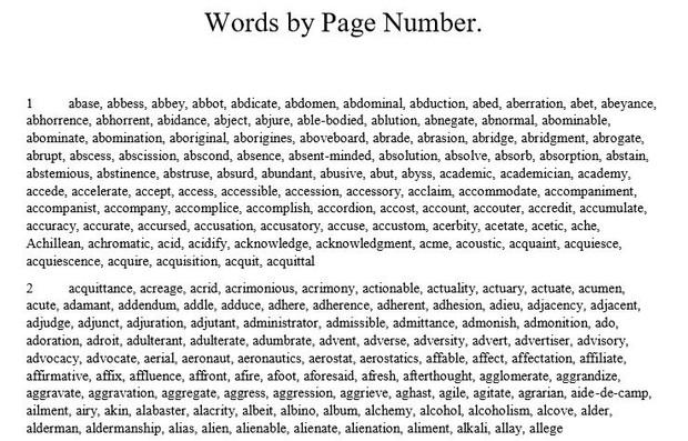Word Find - SAT 5000 Words