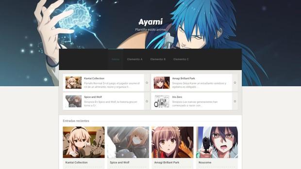 Ayami.xml v2.1.11 - plantilla anime responsive para Blogger