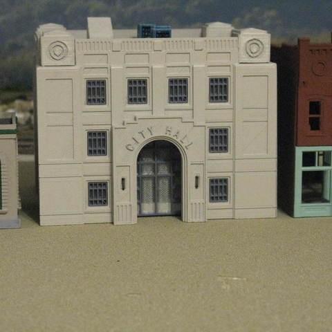 HO Scale City Hall Building
