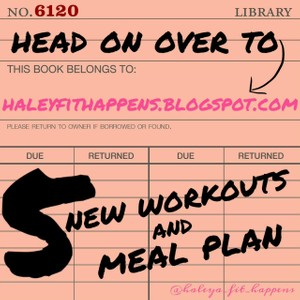 5 workouts and Meal Plan 10/28-11/2