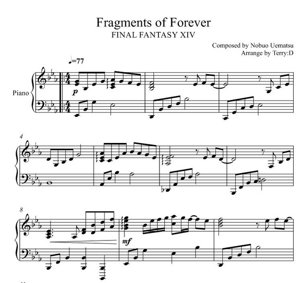 FINAL FANTASY XIV - Fragments of Forever (Arr by Terry:D)