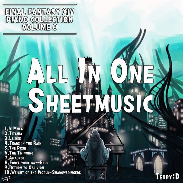 Final Fantasy XIV Piano Collection, Vol. 8 All in one Sheetmusic+MIDI