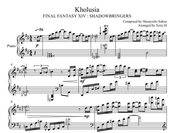 FFXIV - Kholusia theme for piano solo(Sheetmusic and MIDI)