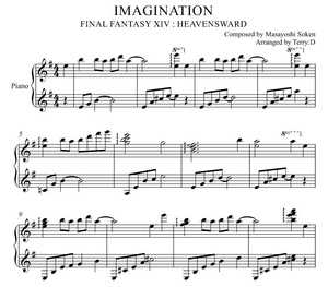 IMAGINATION for piano solo(Arr.by Terry:D) FINAL FANTASY XIV OST