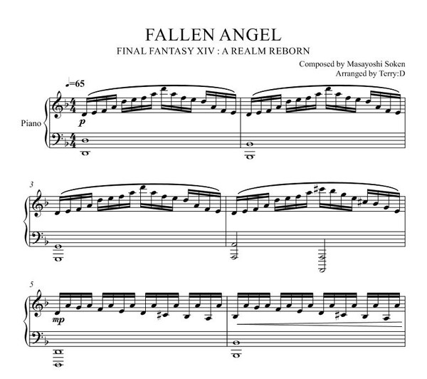 FINAL FANTASY XIV - Fallen Angel (Garuda's Theme) piano cover (Arr.by Terry:D)