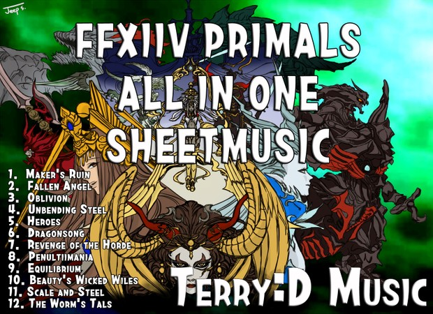 FFXIV - Primals theme for piano solo (Arr by Terry:D)