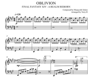 OBLIVION(忘却の彼方 FFXIV Shiva Theme Phase 2) for Piano solo Arr.by Terry:D