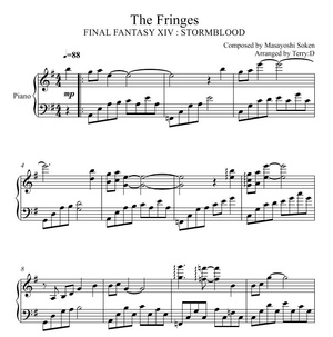 Final Fantasy XIV : Stormblood - The Fringes theme for piano solo ( Arr.by Terry:D )