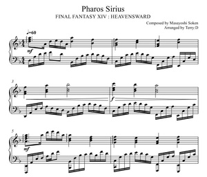 FFXIV : Pharos Sirius theme for piano solo(Arr.by Terry:D)