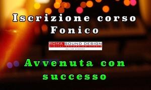 Iscrizione pagamento unico corso Fonico