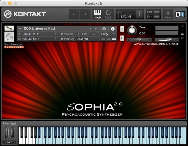 Sophia 2.0 Psycnhoacoustic Synthesizer