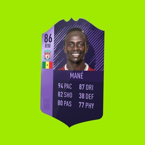 FIFA 18 3D card perspective