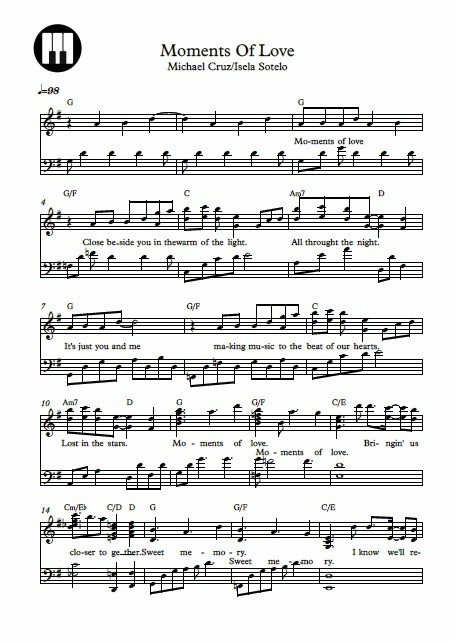 Moments Of Love Piano Sheet Music