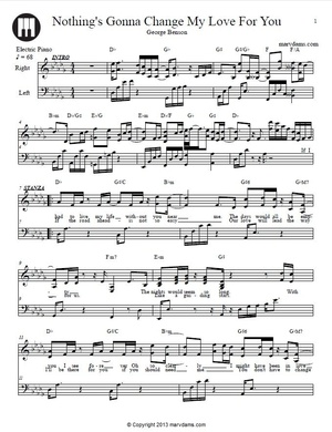 Nothings Gonna Change My Love For You Sheet Music