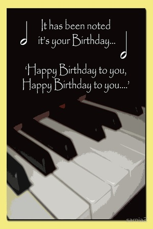 Happy Birthday for Piano
