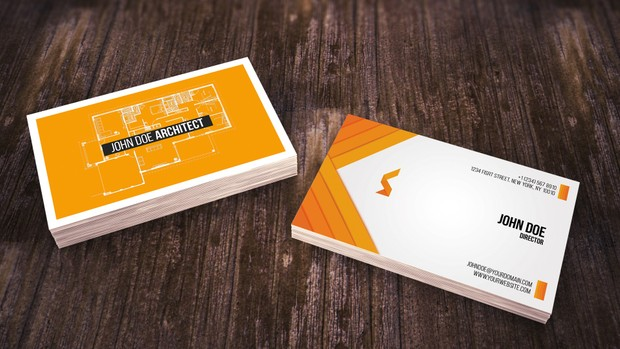 simple architect business card - Architect Business Card