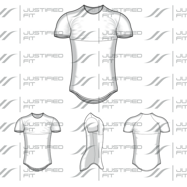 Tech Pack Template Fish Tail Shirt JustifiedFit - Tech pack template