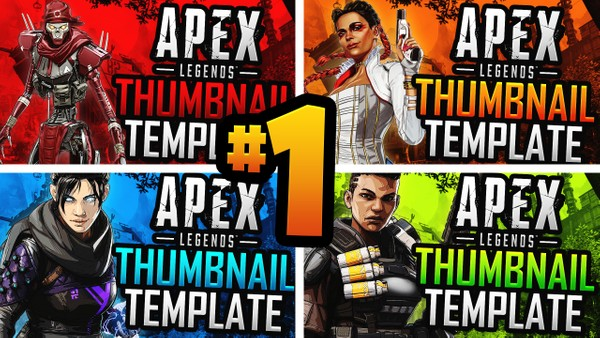 Apex Legends: Season 4 YouTube Thumbnail Template Pack #1 - Photoshop Template