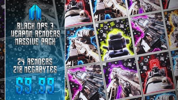 Black Ops 3 - Weapon Transparency Pack - BO3 Renders