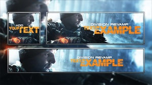 Tom Clancy's The Division - Revamp Template - Photoshop