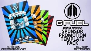 G FUEL Sponsorship Promotion Poster Template - Photoshop