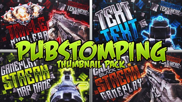 Pubstomping Thumbnail Template Pack - Call of Duty: Black Ops III