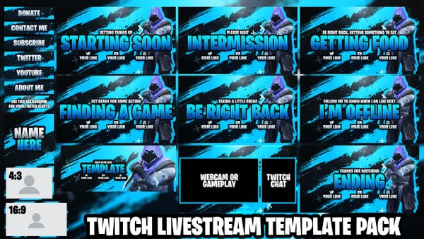 Valorant Twitch Live Stream Essentials Template Pack - Photoshop Template